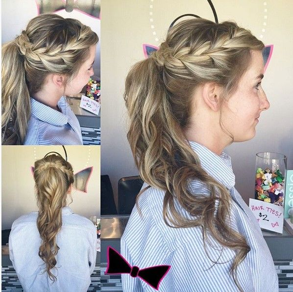 Pretty Prom Hairstyle Ideas For Long Hair Braid Ponytail Hairstyle Prom Ponytail Hairstyles Fancy Ponytail Braids For Long Hair