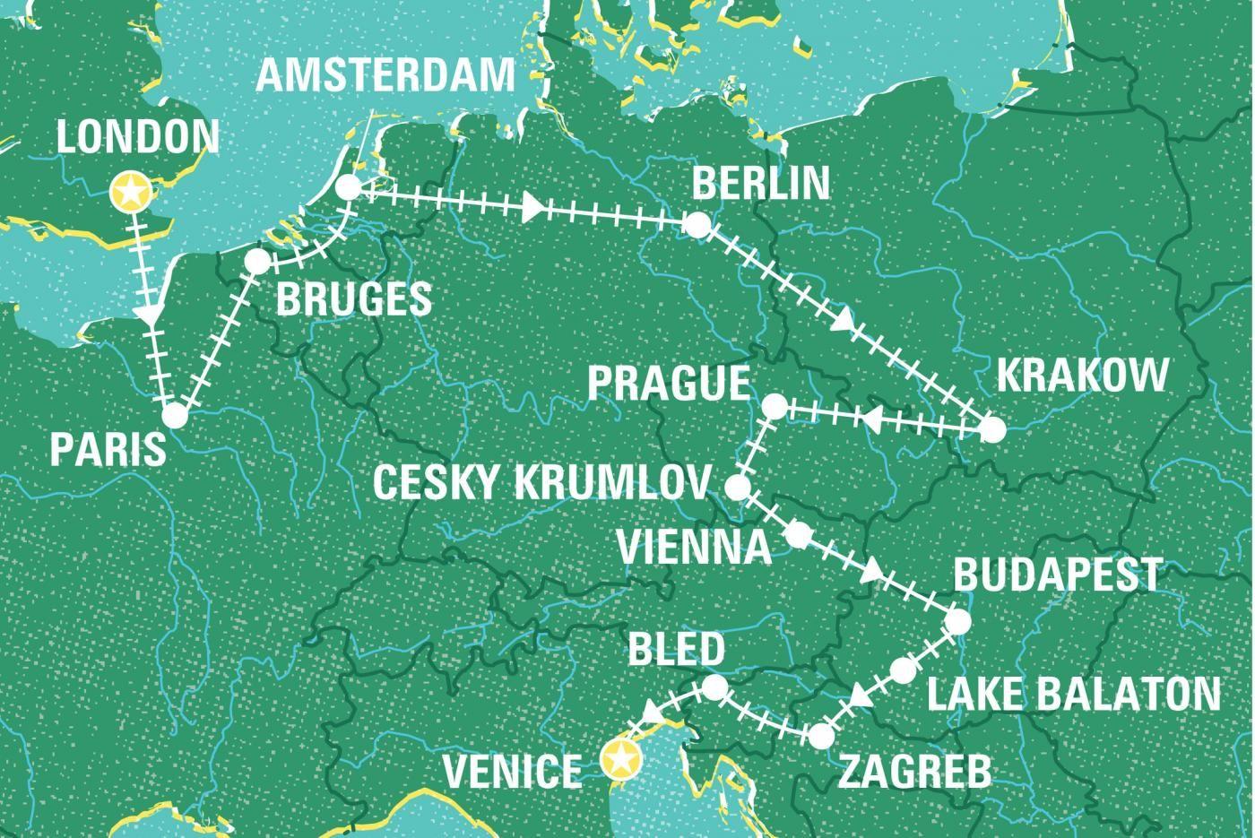 London To Venice By Rail Germany Tours Geckos Adventures Nz Intrepid Travel Cesky Krumlov Venice