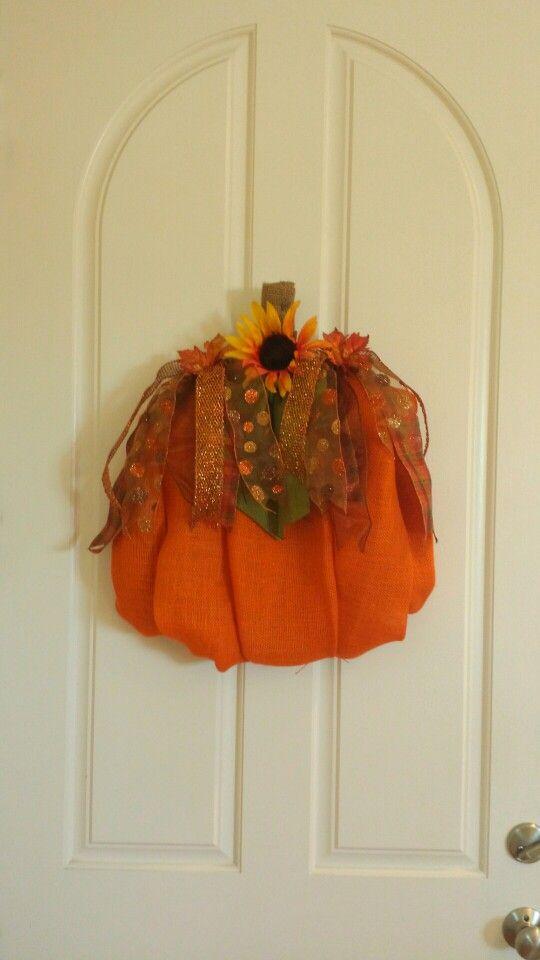 Pumpkin Fall Wreath made by Audrey Rose