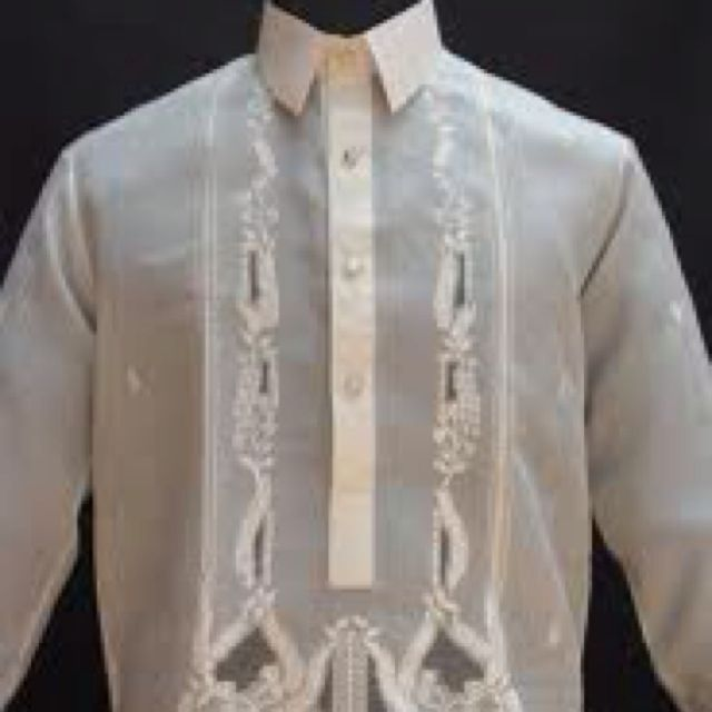 Traditional Filipino Barong Shirts For The Grooms Men