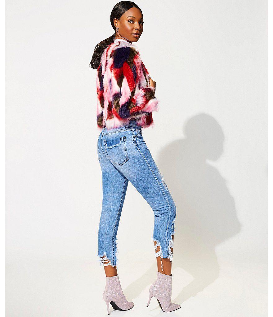 7ed6a8b23f21 UGG Lorrena Multi-Color Patch Faux Fur Jacket#Multi, #Color, #UGG ...