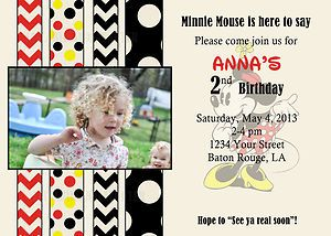 Vintage classic minnie mickey mouse birthday invitation digital file vintage classic minnie mickey mouse birthday invitation digital file 5x7 ebay filmwisefo