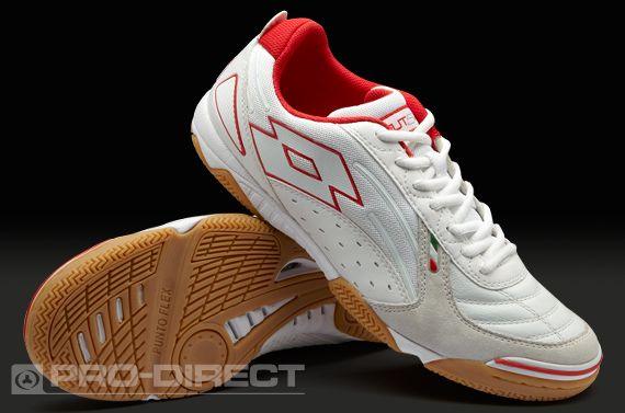 Lotto Football Boots - Lotto Futsal Pro V Indoor - Soccer Cleats -  White-Risk Red 3c40461418
