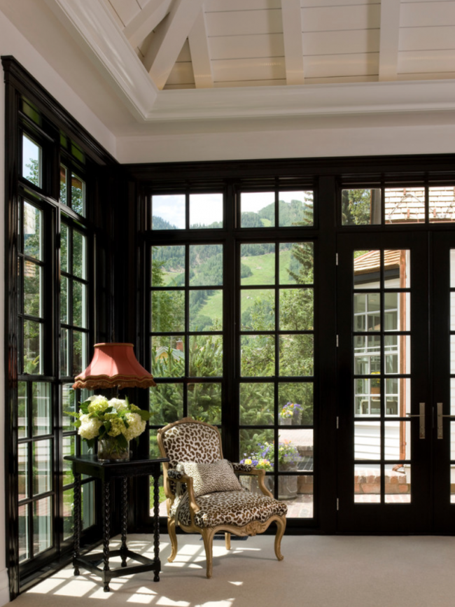 Black Trims Home House Design Bright Rooms