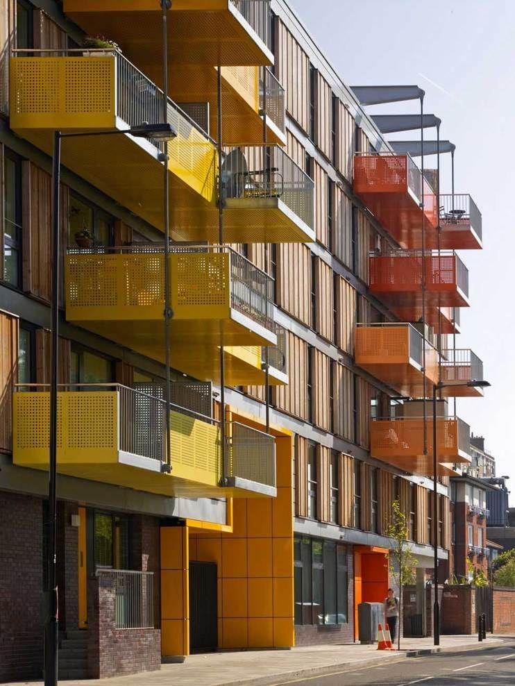 Balcony Design London: Adelaide Wharf, London, United Kingdom By Allford Hall