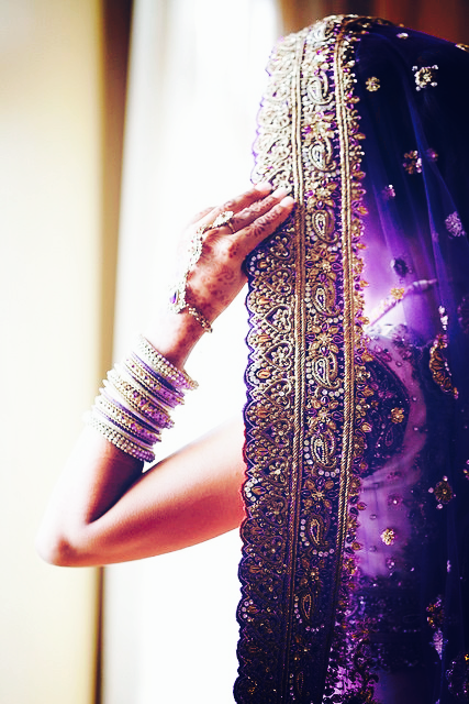 Purple and gold. Purple wedding dress. Purple haze. Purple shaadi. Purple bridal wear. Purple bride. South Asian desi bride. Indian purple bridal outfit. Wait did I say it was purple??