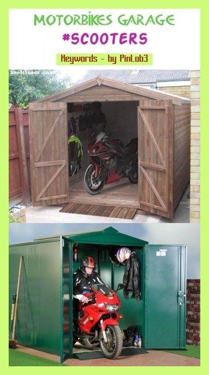 Motorbikes garage #motorbikes #garage #garage #motorräder #motos Garage für Mo…
