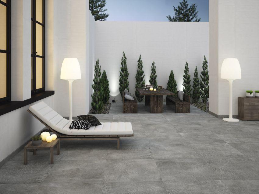Baldosa de exterior de interior de suelo de gres - Suelo exterior antideslizante ...