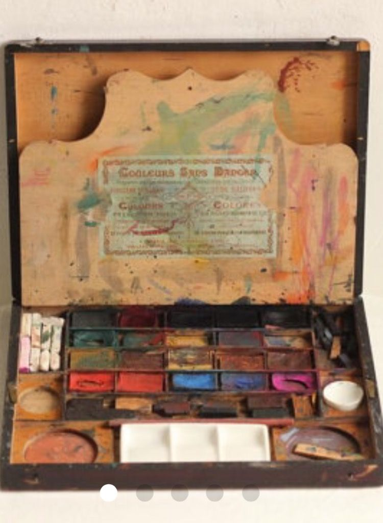 Vintage Watercolor Paint Box 1800 S Watercolor Paint Set Paint
