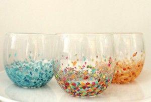 confetti-glazen