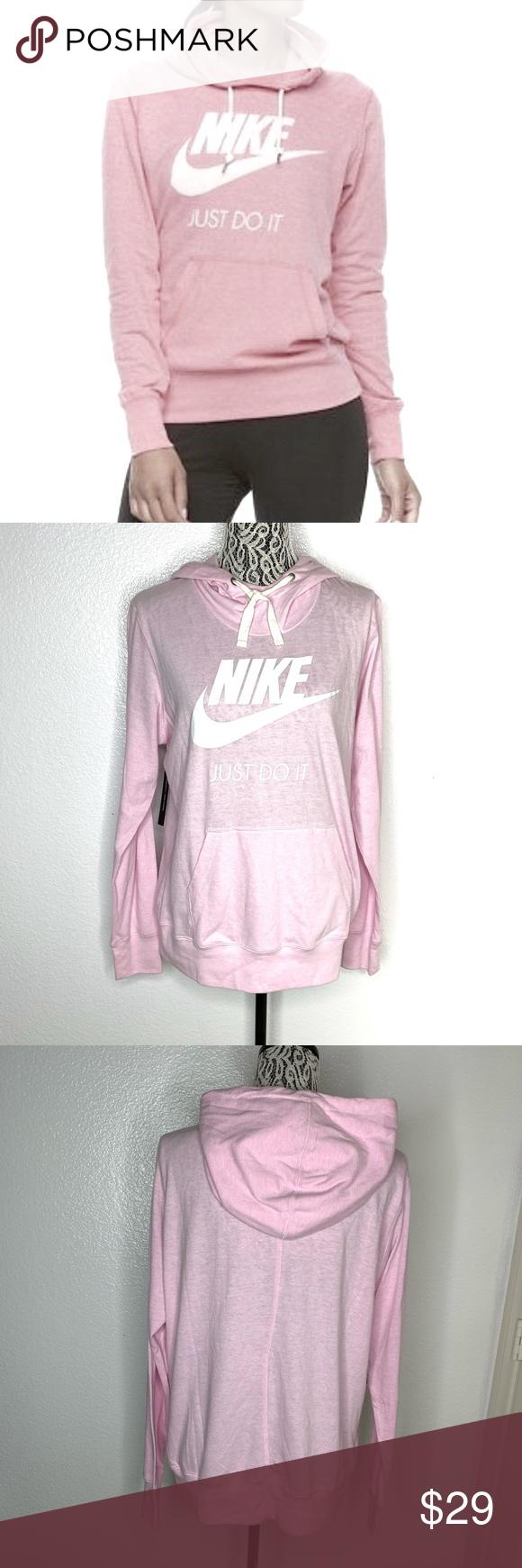 Nike Just Do It Long Sleeve Blush Pink Hoodie Pink Hoodie Hoodies Hoodie Brands [ 1740 x 580 Pixel ]