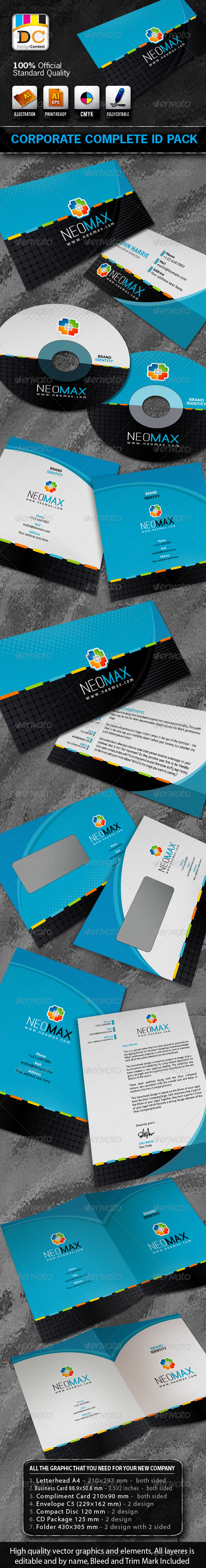 Neo Max Corporate Complete Id Pack  Internet Logo Business Cards