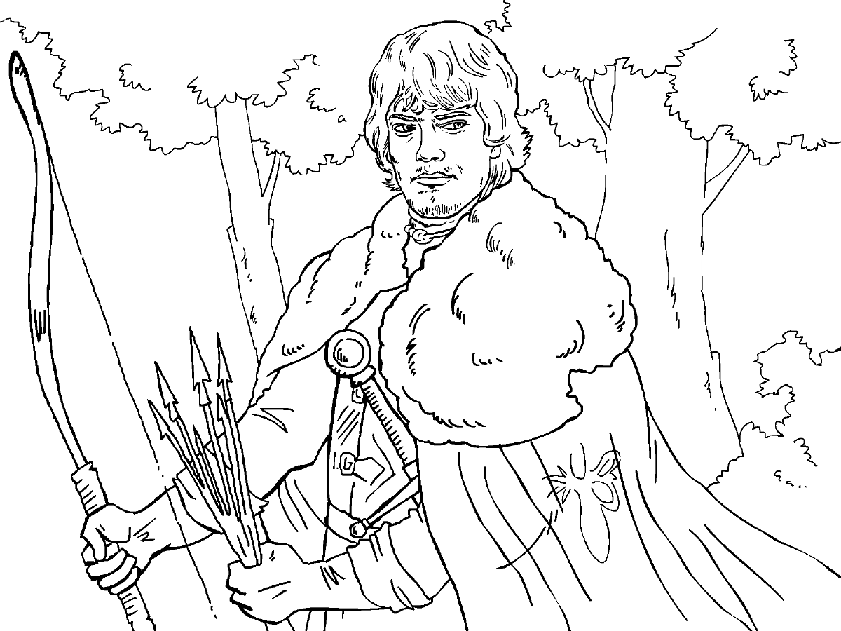 game of thrones colouring in page theon - Colouring In Game