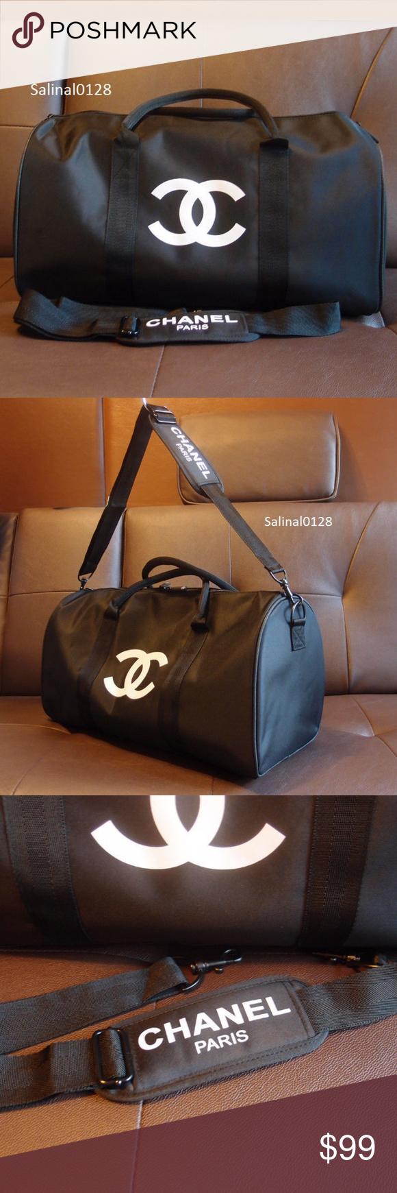 acfc233a1c1 Chanel vip gift bag travel bag gym weekend duffle Authentic Chanel vip gift  bag travel bag