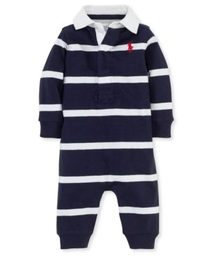 369c4765b02f Ralph Lauren Baby Boys Striped Rugby Cotton Coverall