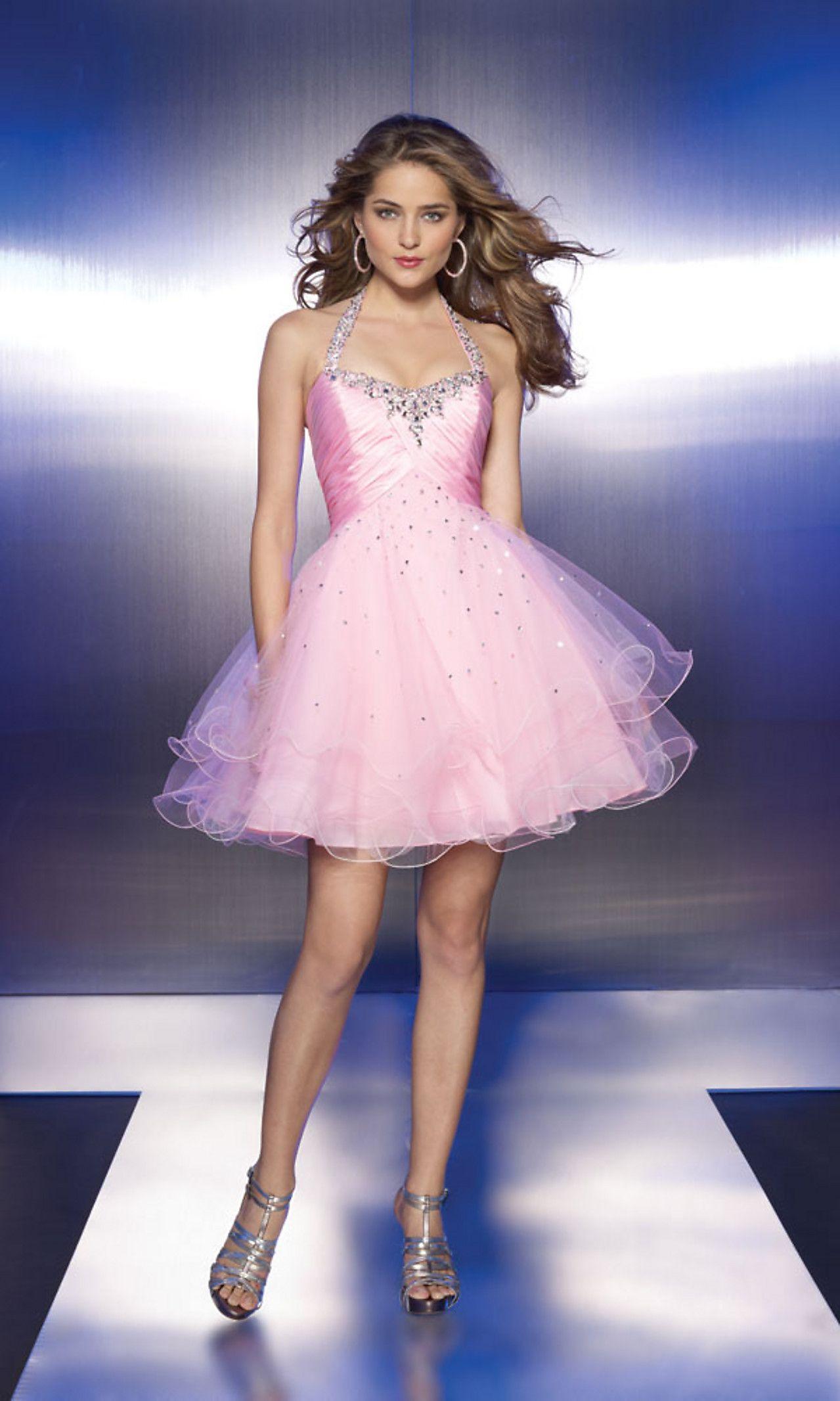 Halter Top Short | dresses I want :) | Pinterest | Short tulle dress ...