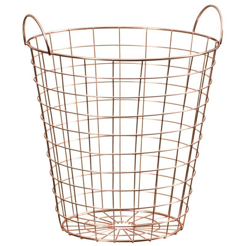 Copper Waste Bin - A multi-purpose, copper wire framed waste bin ...