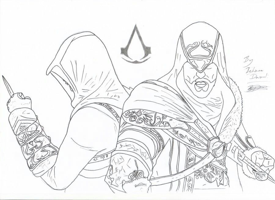 Pin De Konpanya Kartoons Em Assassin S Creed Para Colorear