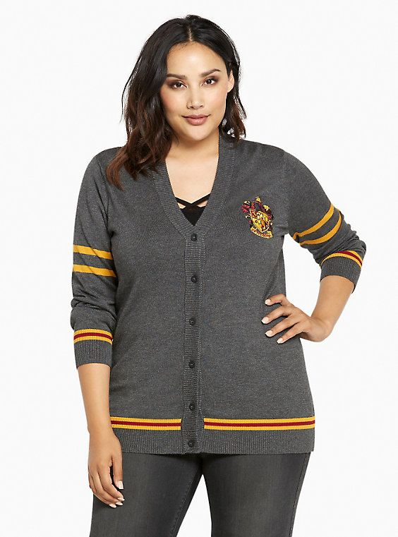 800e0ecaf3c YES I WOULD SOO SHOW MY NERD SIDE AND WEAR TGIS!! Plus Size Harry Potter  Gryffindor Cardigan