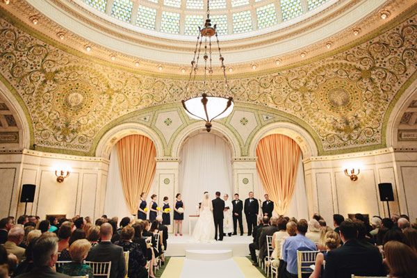 Chicago Cultural Center Wedding From Bobbi Mike Chicago Wedding Venues Chicago Cultural Center Wedding Locations