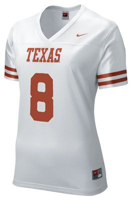 best website 298bc 7d1cb Texas Longhorns Women's White Nike Football Jersey | Texas ...