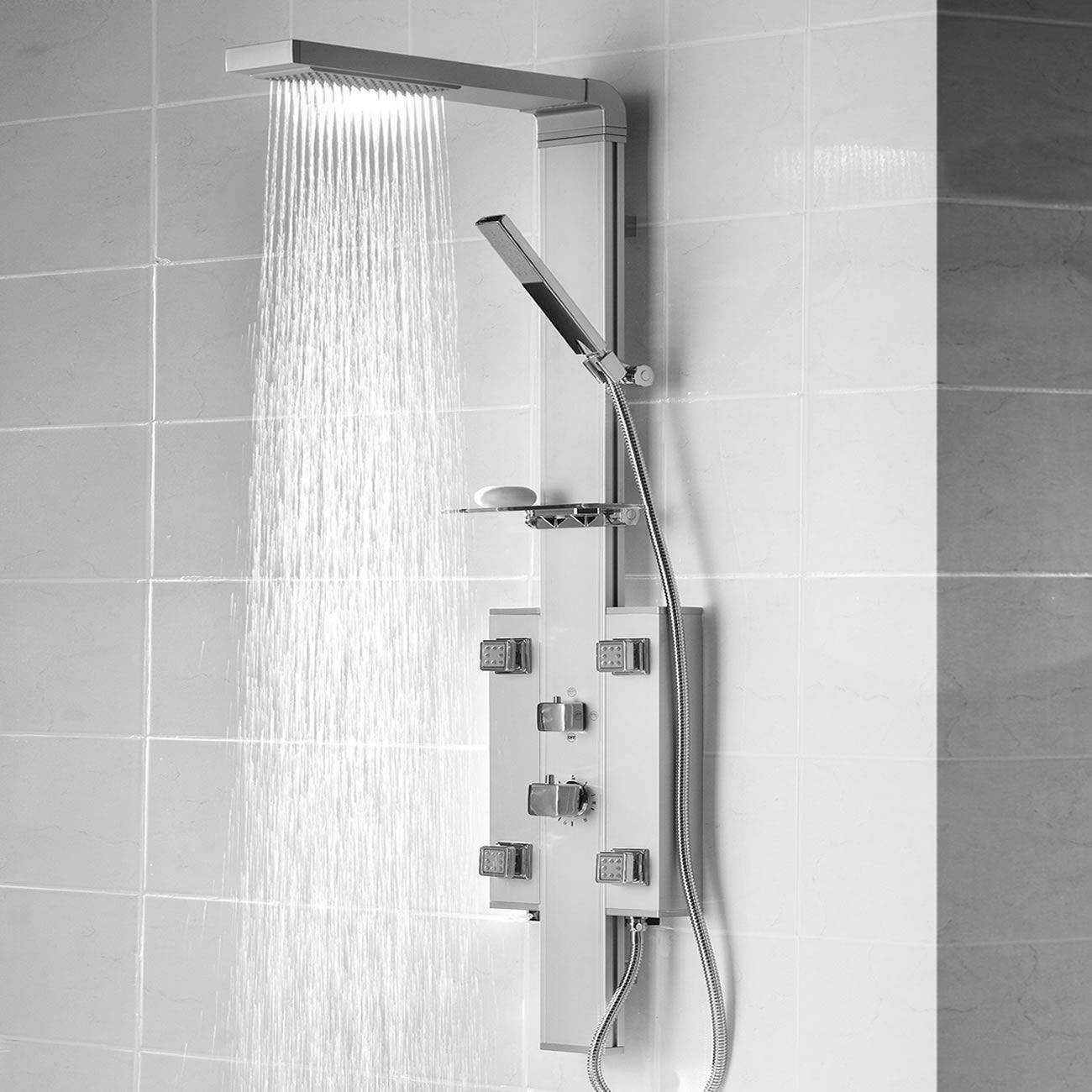 Thermostatic Shower Panel with 4 Body Jets | luxury modern ...