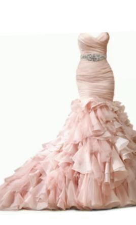 Maggie Sottero Divina Blush Wedding Dress Used Size 12 900