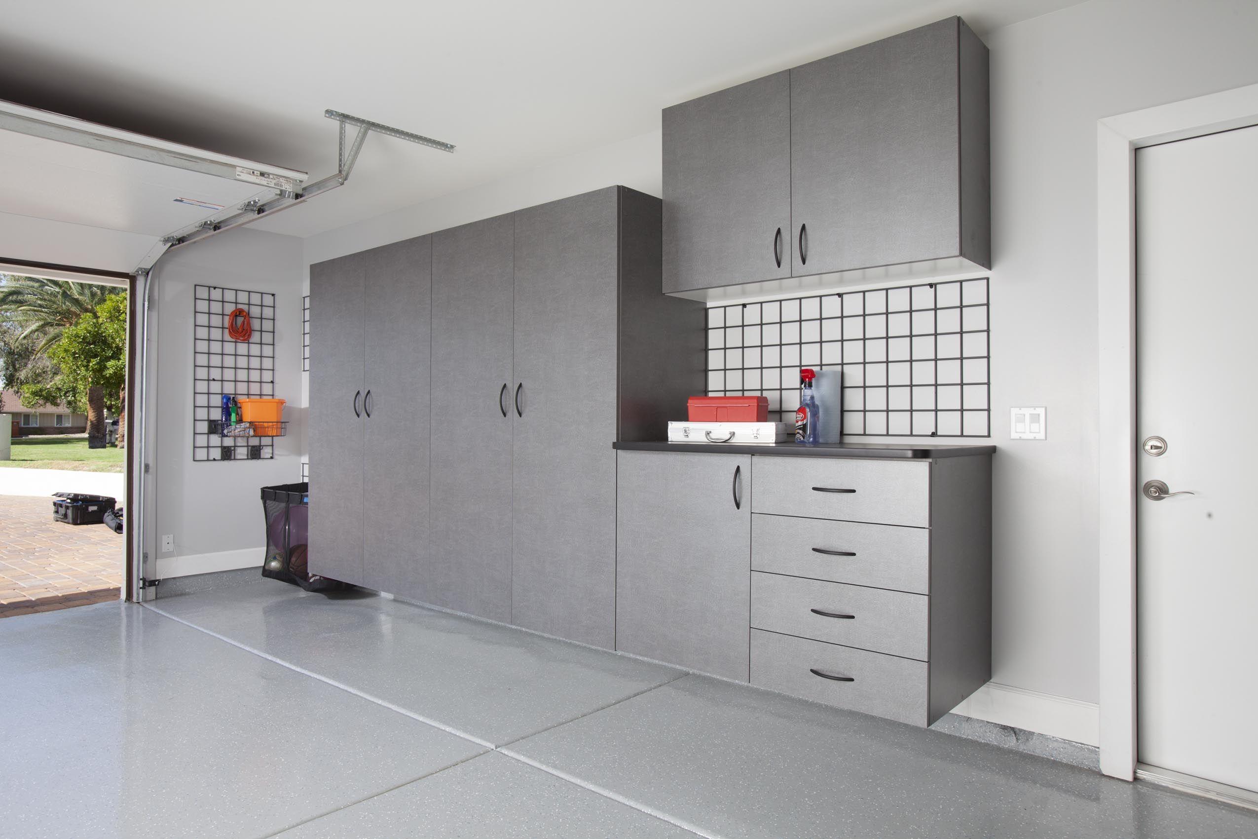 flooring az phoenix cabinets cabinet organizers amp price closet storage of garage metal lovely