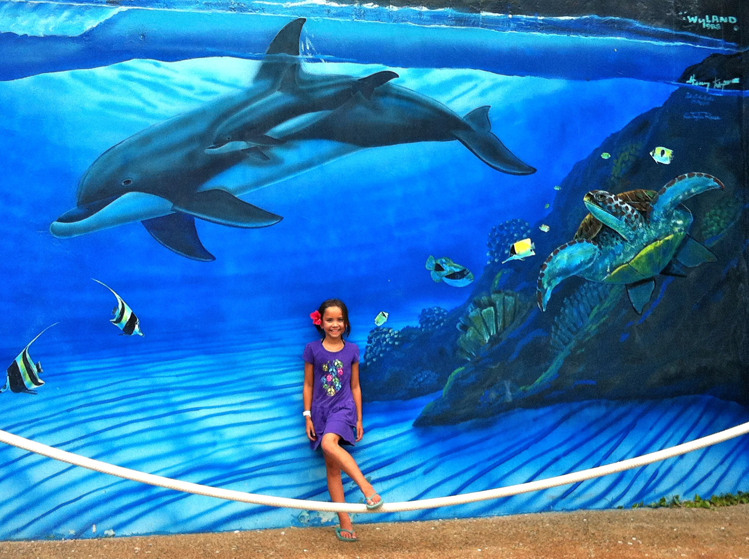 Fish aquarium jeddah - Me And A Mural At Sea Life Park In Honolulu Hawaii