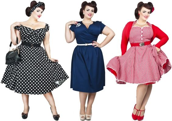 retro plus size clothing - Sizing