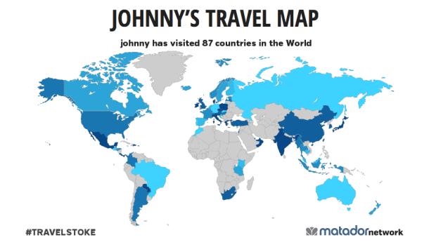 Travel Website of the Week Matador s TravelStoke World Map