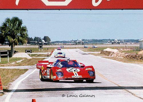 NART Ferrari 512M at Sebring 1971 - Louis Galanos