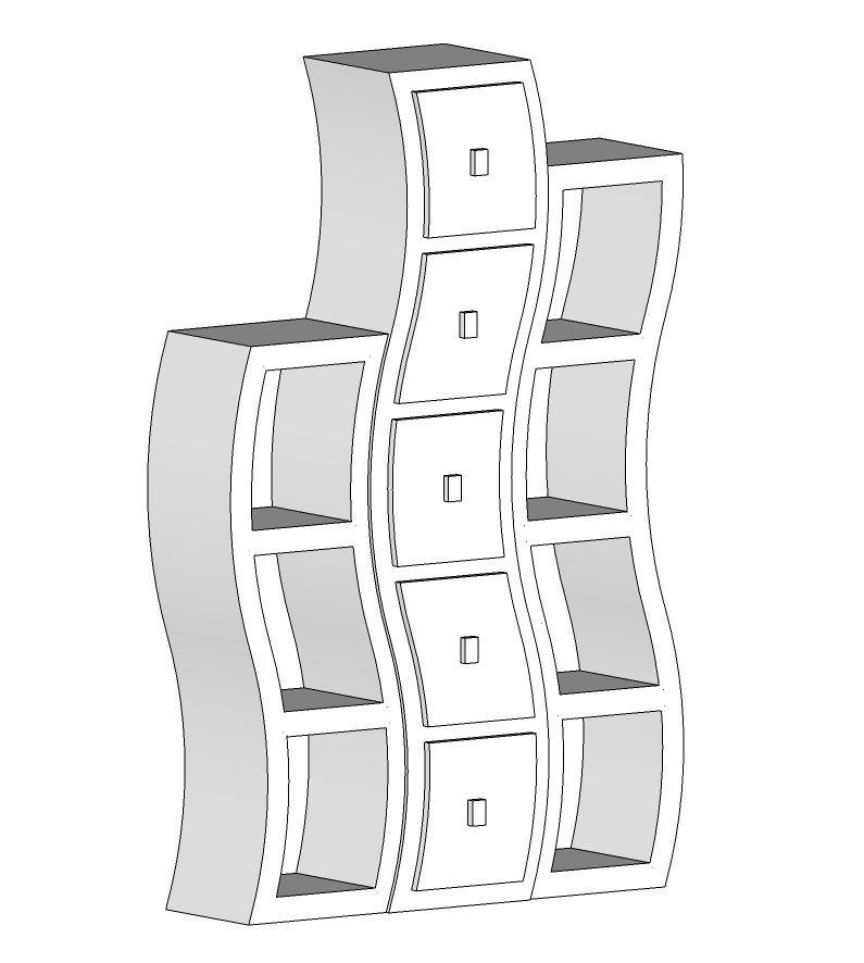 Étagère en carton à fabriquer soi-même grâce à un patron. http://www.collection-carton.fr/category.php?id_category=71