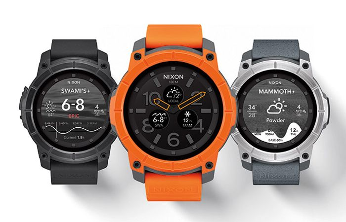 The Mission Is A New Android Wear Smar Ch By Nixon It Has A 10 Atm Water Resistant Rating And Was Designed With Surfing And Snow Sports In Mind