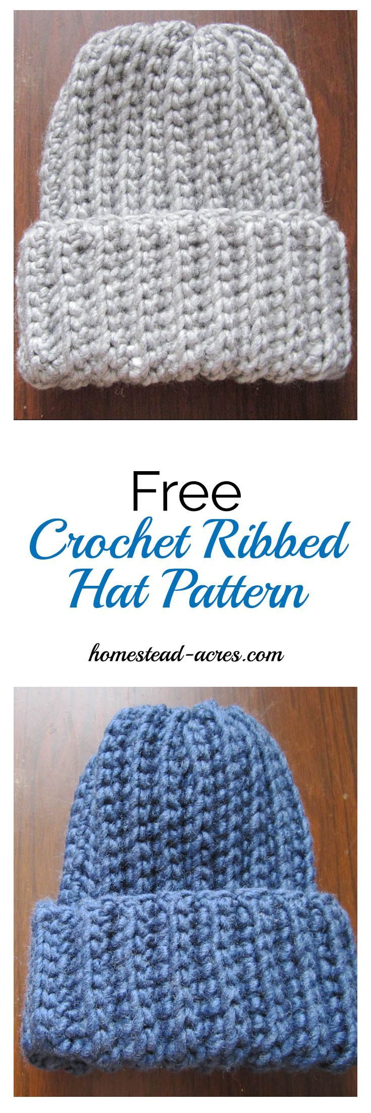 c22f28d7b3c This is a quick and easy crochet ribbed hat pattern that looks just like  ribbed knitting! It s my favourite free crochet hat pattern.