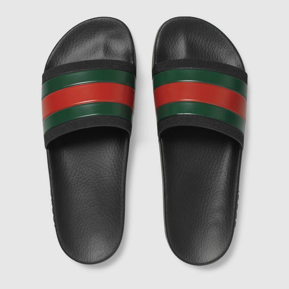 88f1dfc4b Gucci Rubber slide sandal in 2019 | GUCCI | Shoes, Gucci shoes ...