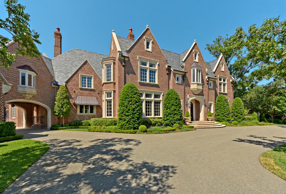 This English Tudor style brick mansion is located at 5131