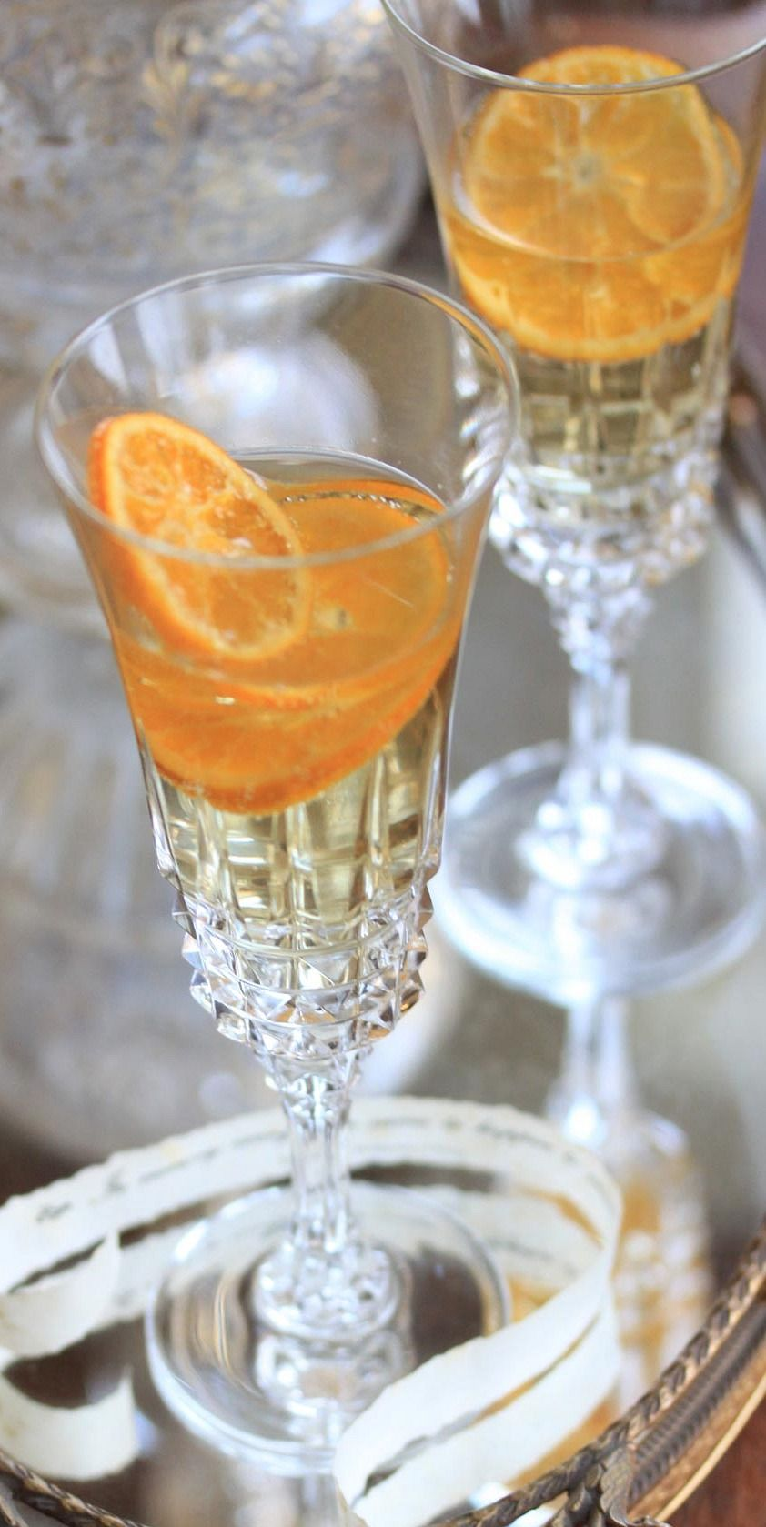 Clementine Champagne Cocktails....