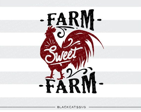 Farm Sweet SVG File Cutting Clipart In By BlackCatsSVG