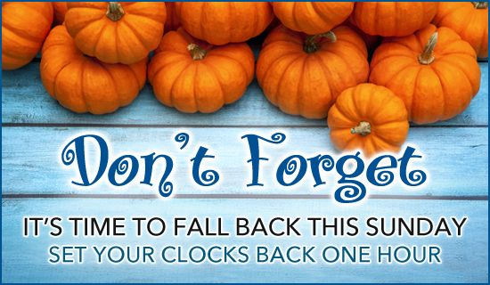Free Fall Back Ecard Email Free Personalized Daylight