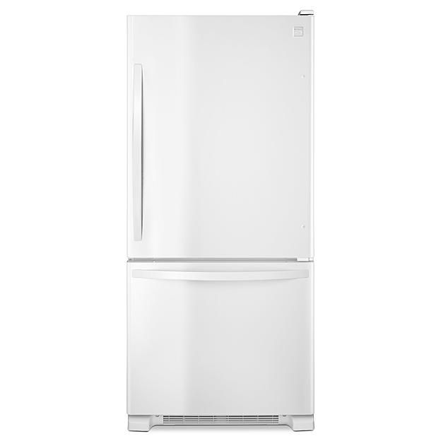 Single Door Bottom Freezer   White
