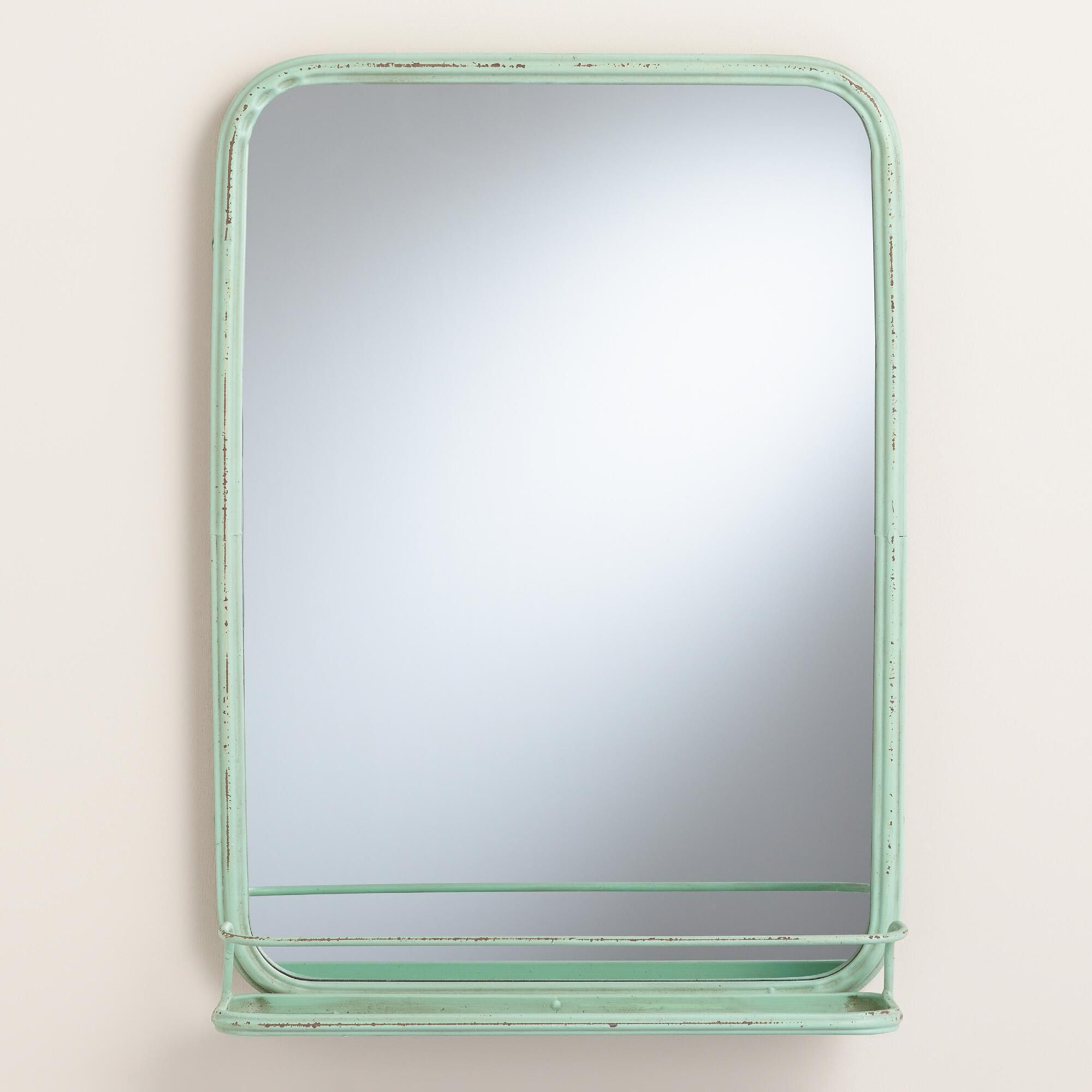 Bathroom Mirror Tray aqua josie bath mirror with tray | trays, bath and remodel bathroom