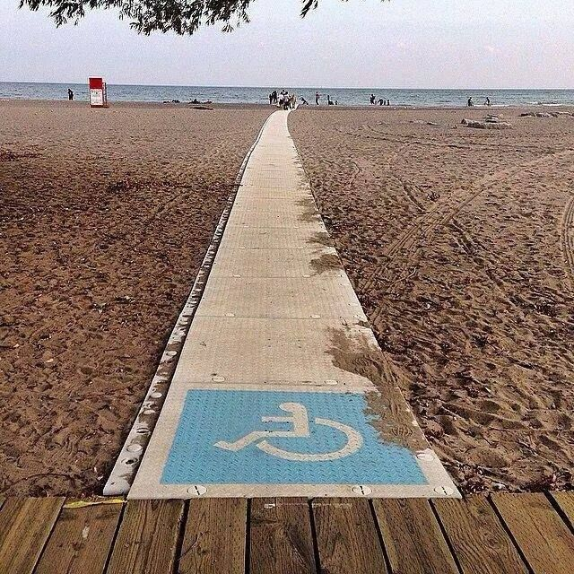 Wheelchair Accessible Beach Somewhere In France