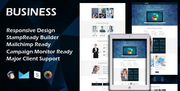 BUSINESS - Multipurpose Responsive Email Template + Stamp Ready - business email template