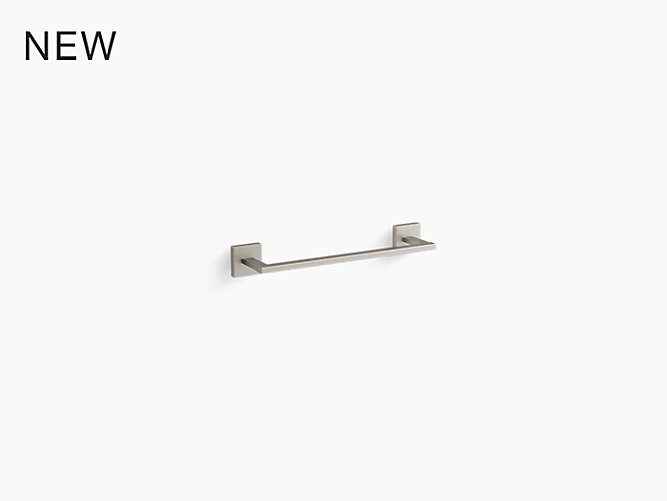 K 23286 Square 12 Towel Bar Kohler In 2020 Towel Bar Square Simple Lines