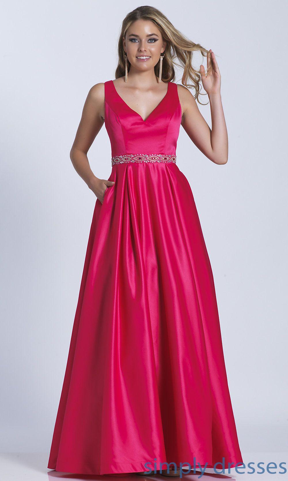 Dj box pleated long vneck prom dress dress formal dress