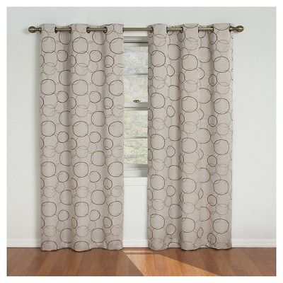 Eclipse Thermaback Meridian Blackout Curtain Panel Linen 42 X63