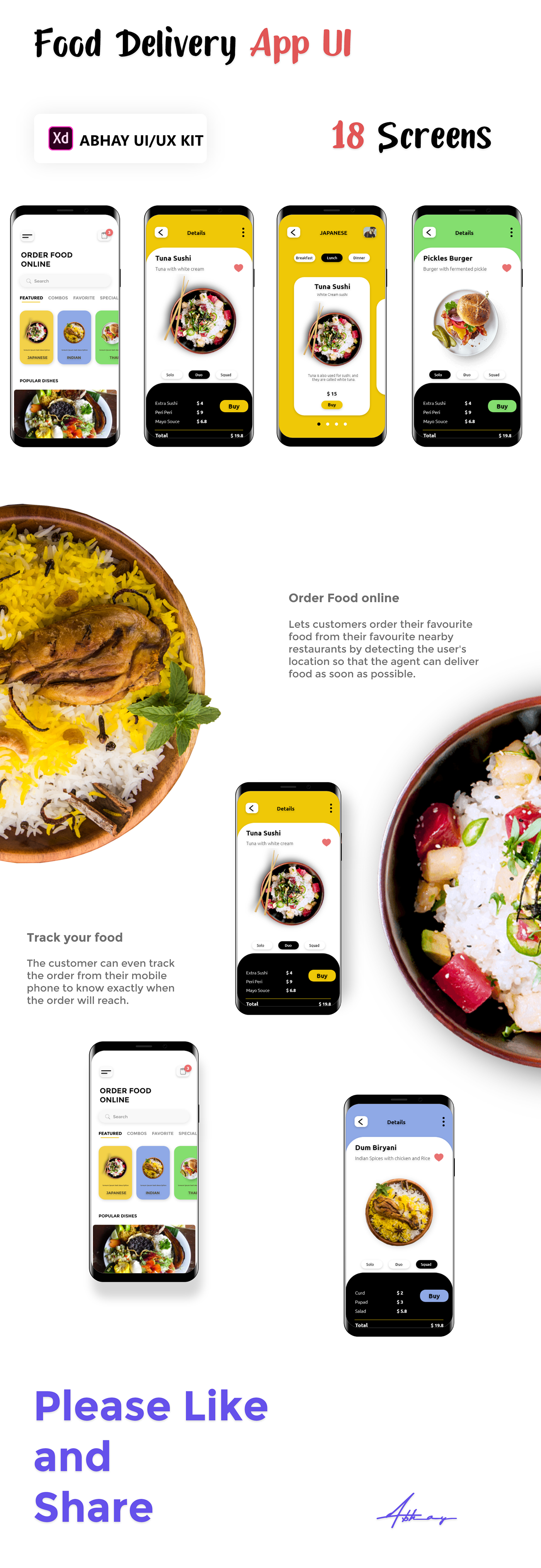 Recipes food delivery apps