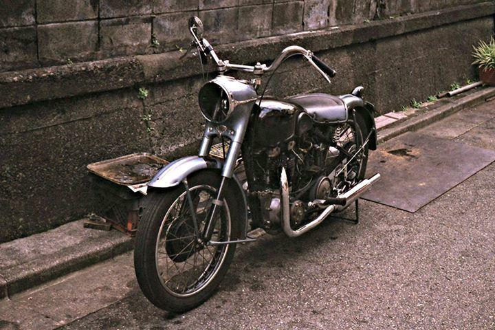 Vintage Triumph Under Repair