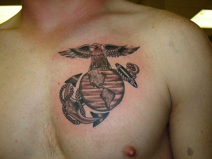 Ega Marine Corps Tattoos On Chest Marine Corps Tattoos